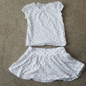 H & M Girl's skirt and top set sz 4